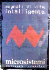 Uno dei primi poster pubblicitari di microsistemi